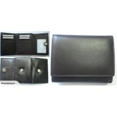 RFID Blocking Leather Trifold  Wallet Dark Brown