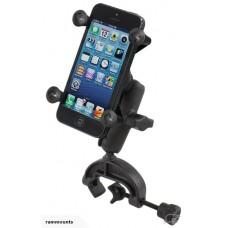 RAM X-Grip Smartphone Holder with Yoke Clamp Mount