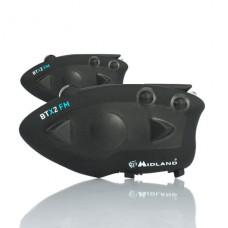 Midland BTX2 FM helmet intercom twin pack