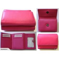 Ladies Leather Trifold - RFID Blocking - Pink