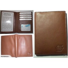 Passport Wallet Brown Leather - RFID Blocking