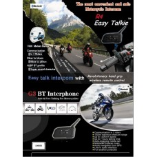 1km Range Motorcycle Intercom (Pair) with 1 remote