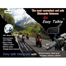 1km Range Motorbike Intercom with remote controls (Pair)