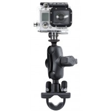 RAM Action Camera / GoPro with U-Bolt Rail Handlebar Mount & short arm