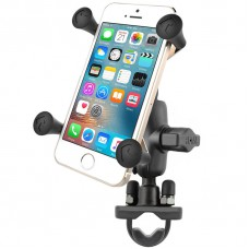 RAM Handlebar U-Bolt Mount with Short Socket Arm and X-Grip® for Phones