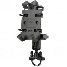 RAM Universal - Quick Grip Phone Holder - with Handlebar / Rail U-Bolt Mount
