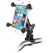 RAM X-Grip Universal SmartPhone Cradle with U-Bolt Rail Handlebar Mount