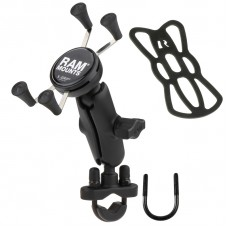 RAM X-Grip Universal Phone Cradle with U-Bolt Base for Handlebars / Rails