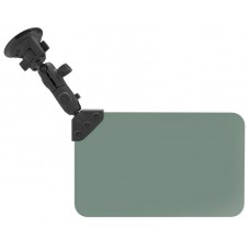 "RAM Sun Visor with 1"" Ball and Suction Cup Mount:  Dark Green 50% Tint"