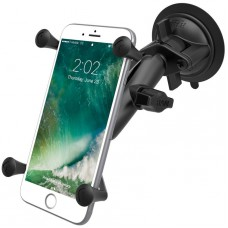 RAM X-Grip with Twist Lock Suction Cup Mount - Universal Cradle for Phablets