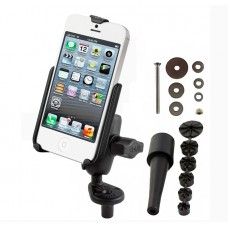 RAM motorcycle Fork Stem Mount w/iPhone 5S Cradle