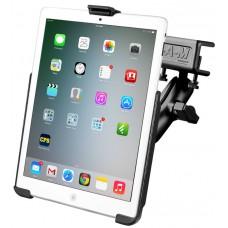 RAM iPad Mini 1-3 EZ-Roll'r cradle with Glare Shield Clamp Mount