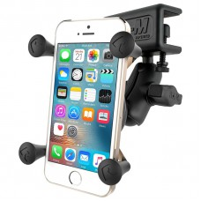 RAM X-Grip Universal SmartPhone Cradle with Glare Shield Clamp Mount + Short Arm
