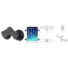 RAM X-Grip Tablet Holder with Double Suction Cup Base and Long Arm