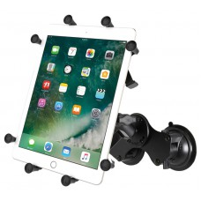 "RAM X-Grip Universal Cradle for 10"" Tablets with Dual Suction Cup Base"