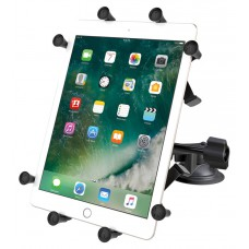 """RAM X-Grip Universal Cradle for 10"""" Tablets w Dual Suction Cup & Retention Arm"""