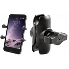 "RAM X-Grip Universal Smartphone Cradle with Short Alloy Arm (1"" B Series)"