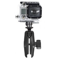 RAM Action Camera / Go Pro Universal Adapter with Double Socket Arm