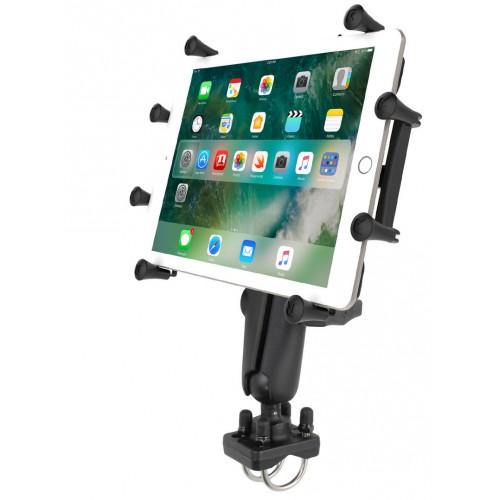 "RAM-B-149Z-UN9U RAM Handlebar U-Bolt Mount w// X-Grip Cradle for 10/"" Large Tablet"