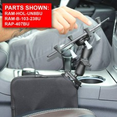"""RAM X-Grip Universal Cradle for 7""""- 8"""" Tablets with Tough-Wedge Vehicle Mount"""