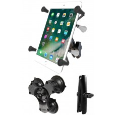 "RAM X-Grip Universal Cradle for 7""- 8"" Tablets with Triple Suction Cup Base"